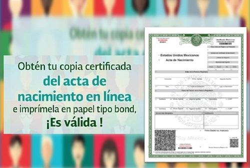 Imprimir Acta de Nacimiento